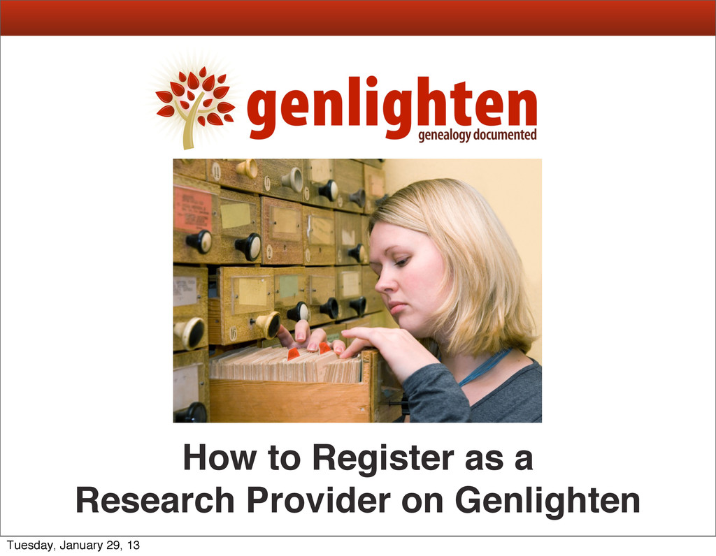 How to Register as a Research Provider on Genli...
