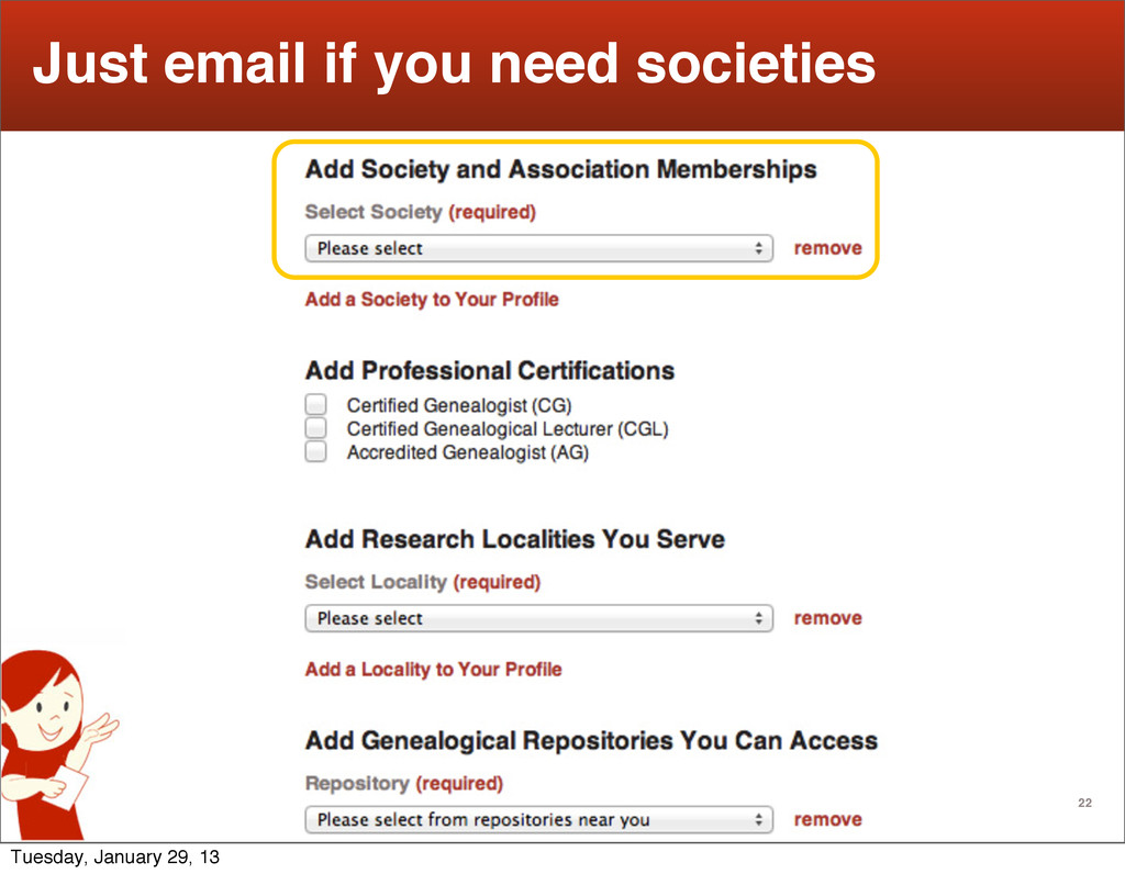 22 Just email if you need societies Tuesday, Ja...