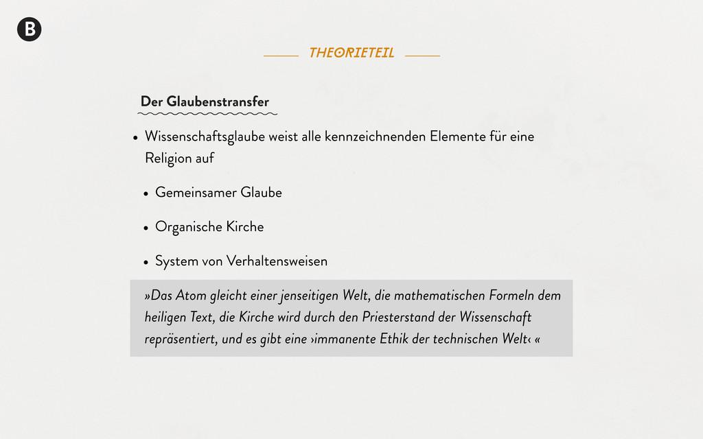 theorieteil B Der Glaubenstransfer • Wissenscha...
