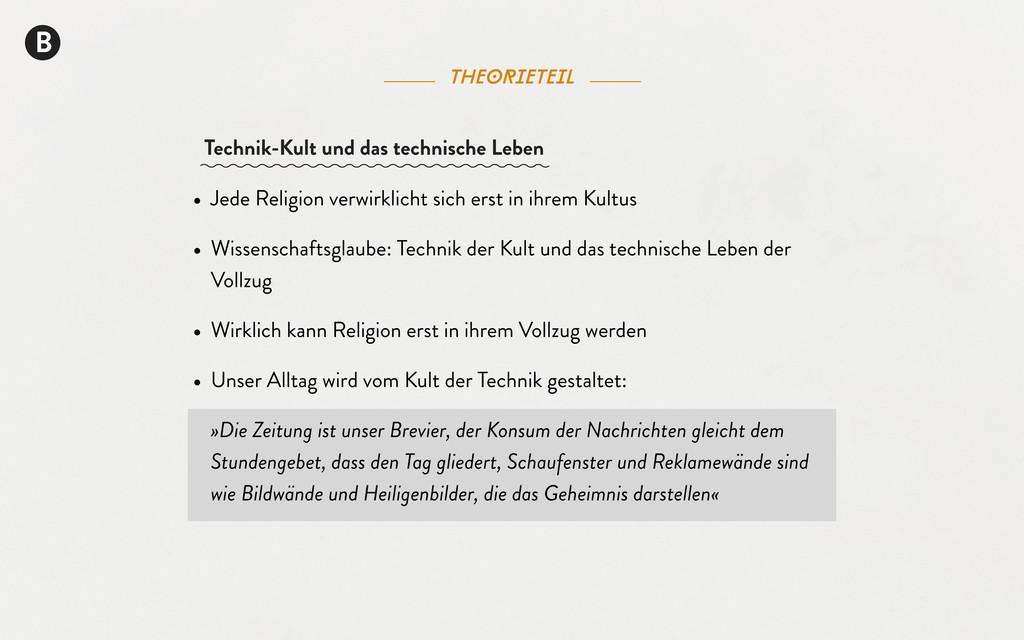 theorieteil B Technik-Kult und das technische L...