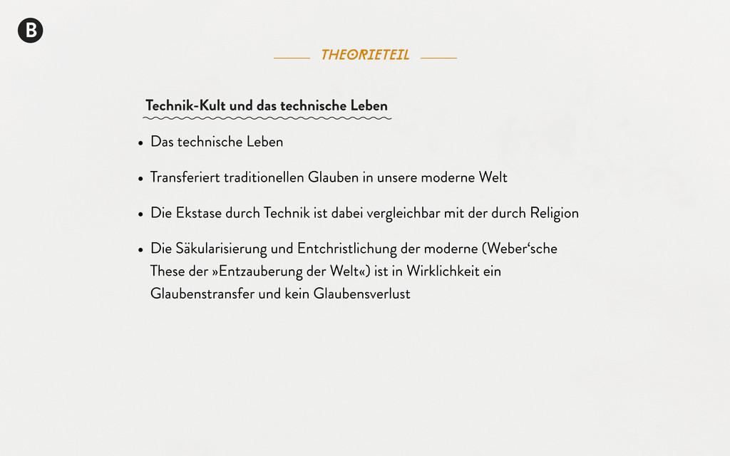 theorieteil B • Das technische Leben • Transfer...