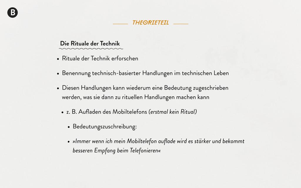 theorieteil B • Rituale der Technik erforschen ...
