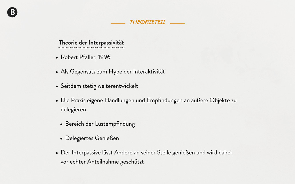 B theorieteil • Robert Pfaller, 1996 • Als Gege...