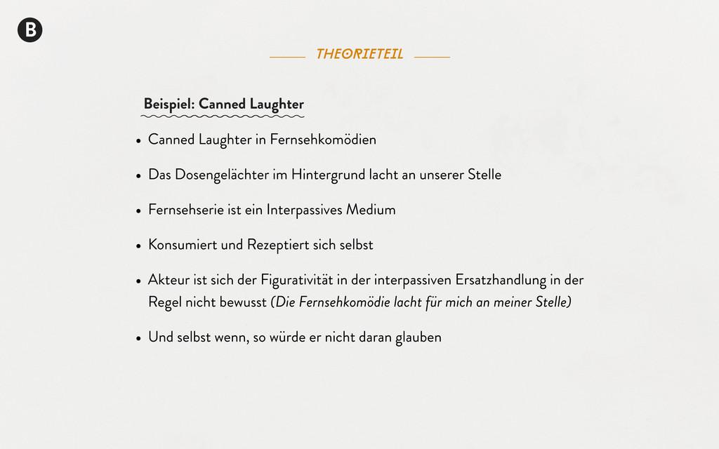 B theorieteil • Canned Laughter in Fernsehkomöd...