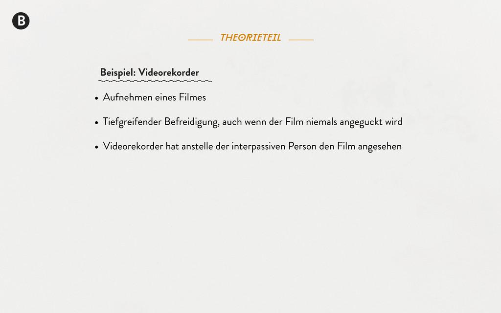B theorieteil • Aufnehmen eines Filmes • Tiefgr...