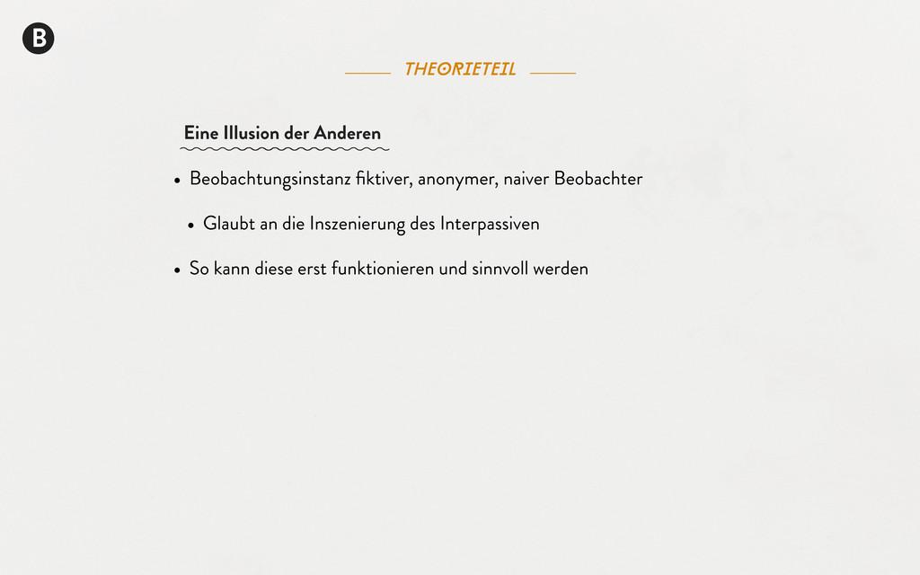 B theorieteil • Beobachtungsinstanz fiktiver, an...