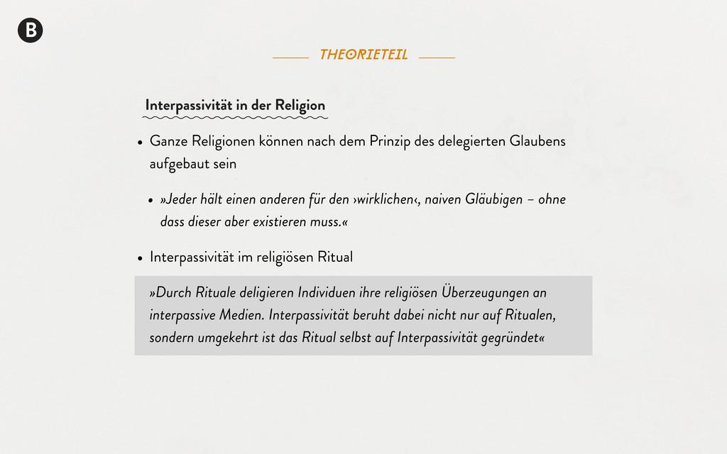 B theorieteil • Ganze Religionen können nach de...