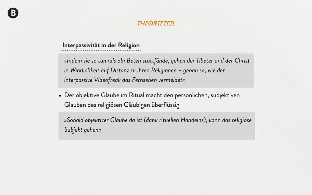 B theorieteil »Indem sie so tun ›als ob‹ Beten ...