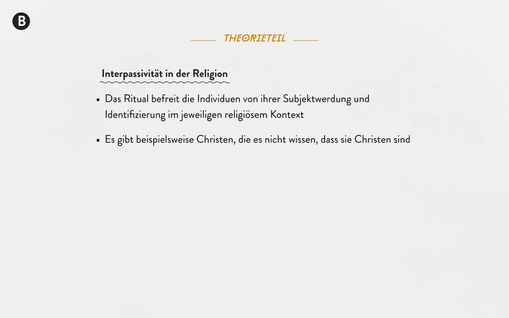 B theorieteil • Das Ritual befreit die Individu...