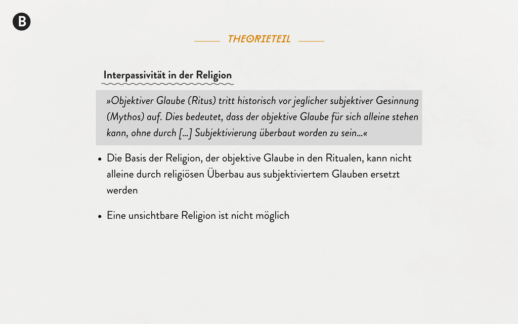 B theorieteil »Objektiver Glaube (Ritus) tritt ...