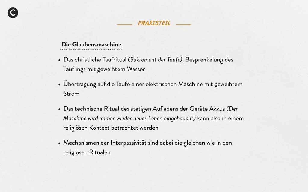 Praxisteil C • Das christliche Taufritual (Sakr...