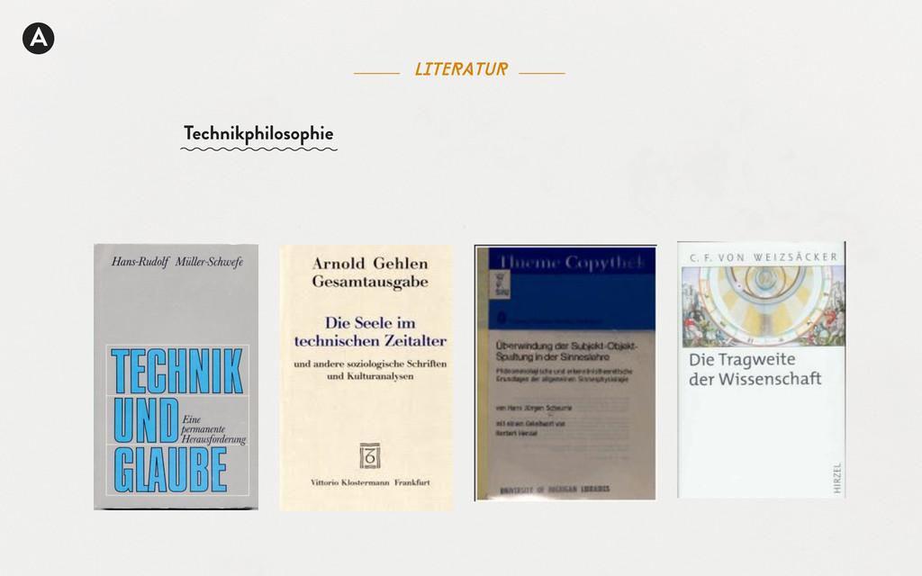 A literatur Technikphilosophie