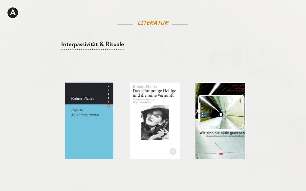 literatur A Interpassivität & Rituale