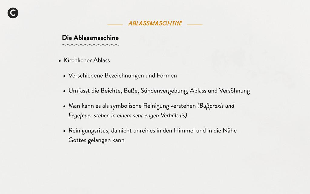C Die Ablassmaschine Ablassmaschine • Kirchlich...