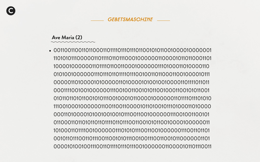 C Gebetsmaschine Ave Maria (2) • 00110011001101...