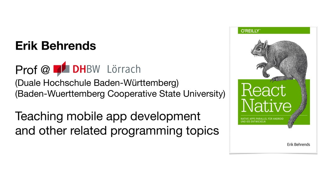 Erik Behrends Prof @ (Duale Hochschule Baden-W...