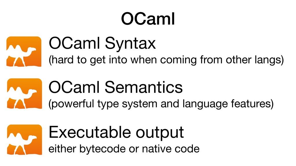 OCaml OCaml Semantics  (powerful type system an...
