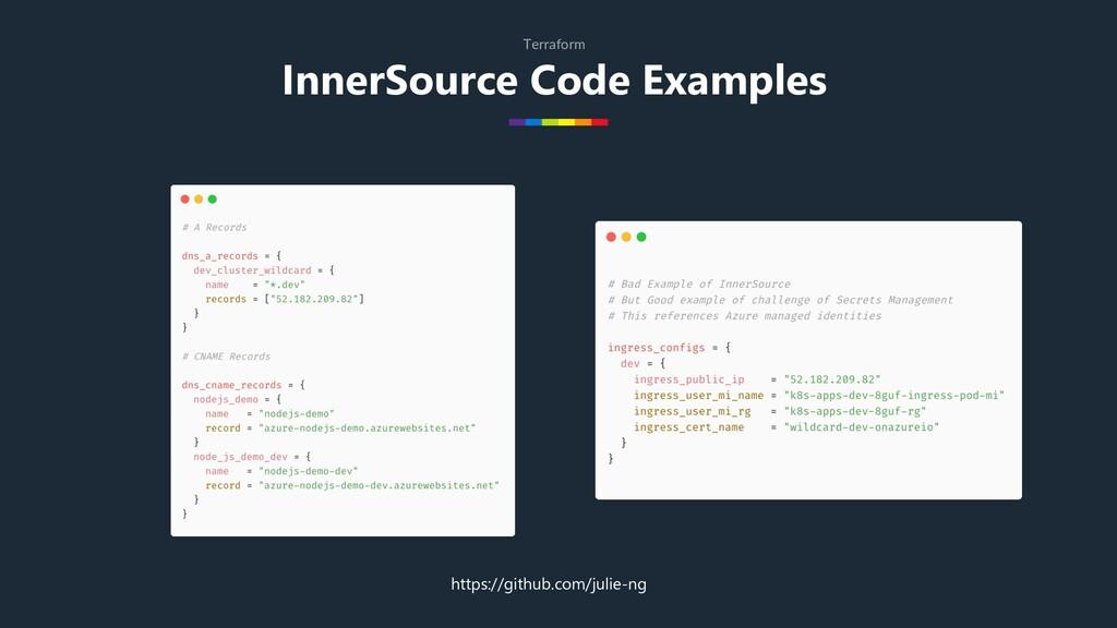 InnerSource Code Examples Terraform https://git...