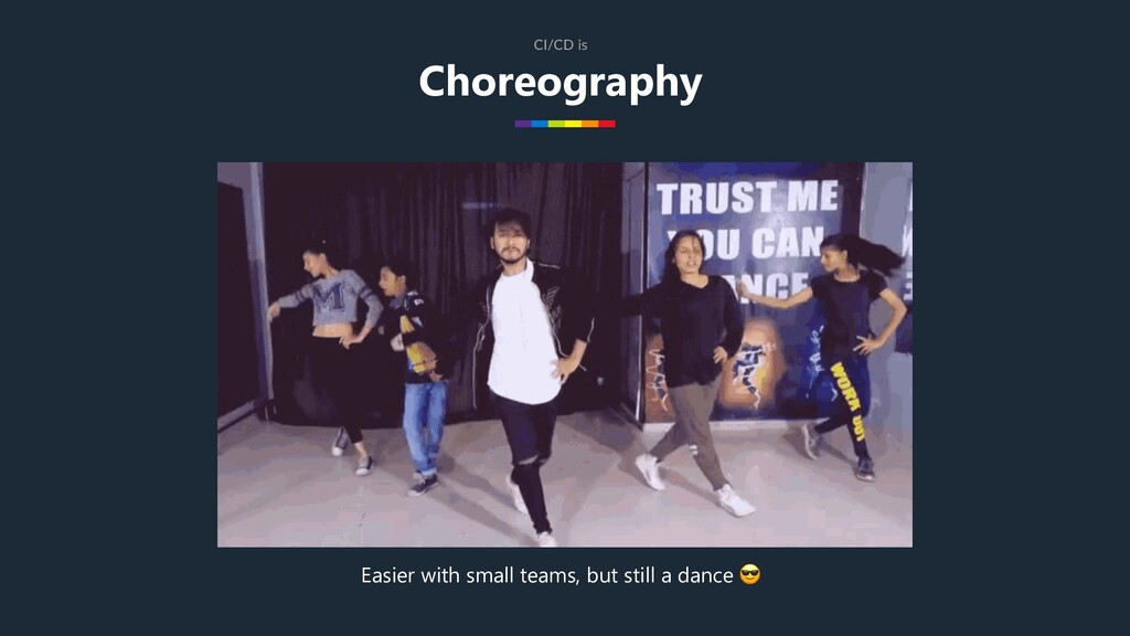 Choreography CI/CD is Easier with small teams, ...