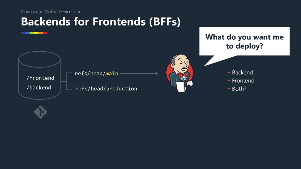 Backends for Frontends (BFFs) Along came Mobile...