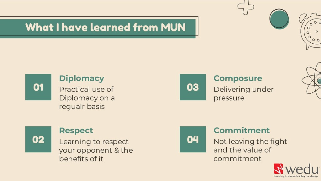 What I have learned from MUN Practical use of D...