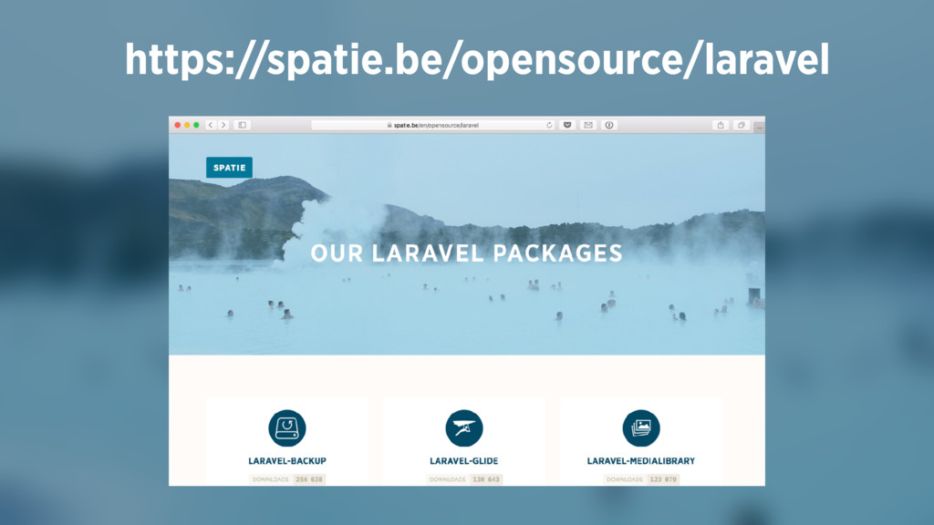 https://spatie.be/opensource/laravel