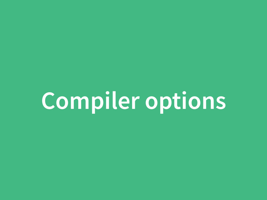 Compiler options