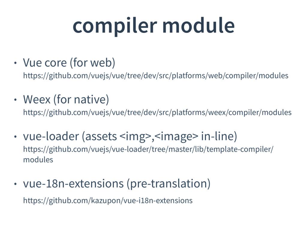 • Vue core (for web) https://github.com/vuejs/...