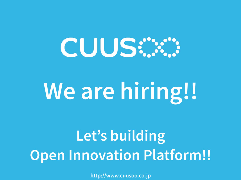 We are hiring!!  Let's building Open Innovatio...