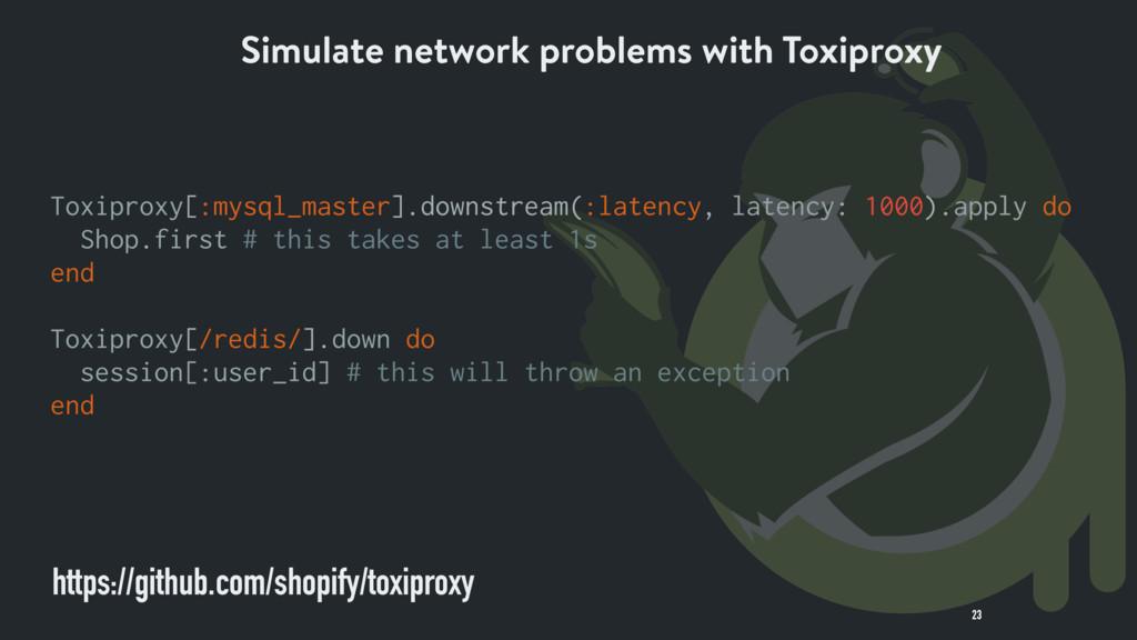 23 https://github.com/shopify/toxiproxy Toxipro...