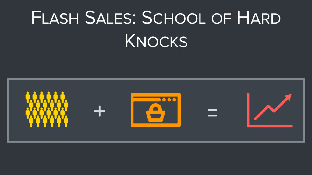 FLASH SALES: SCHOOL OF HARD KNOCKS + =
