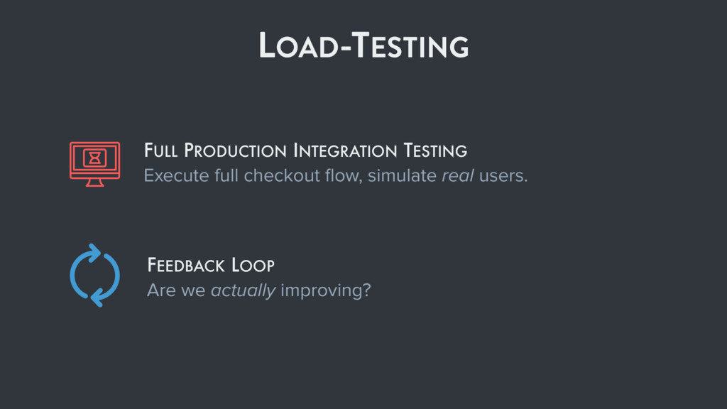 LOAD-TESTING FEEDBACK LOOP Are we actually impr...
