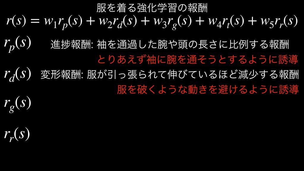 r(s) = w1 rp (s) + w2 rd (s) + w3 rg (s) + w4 r...