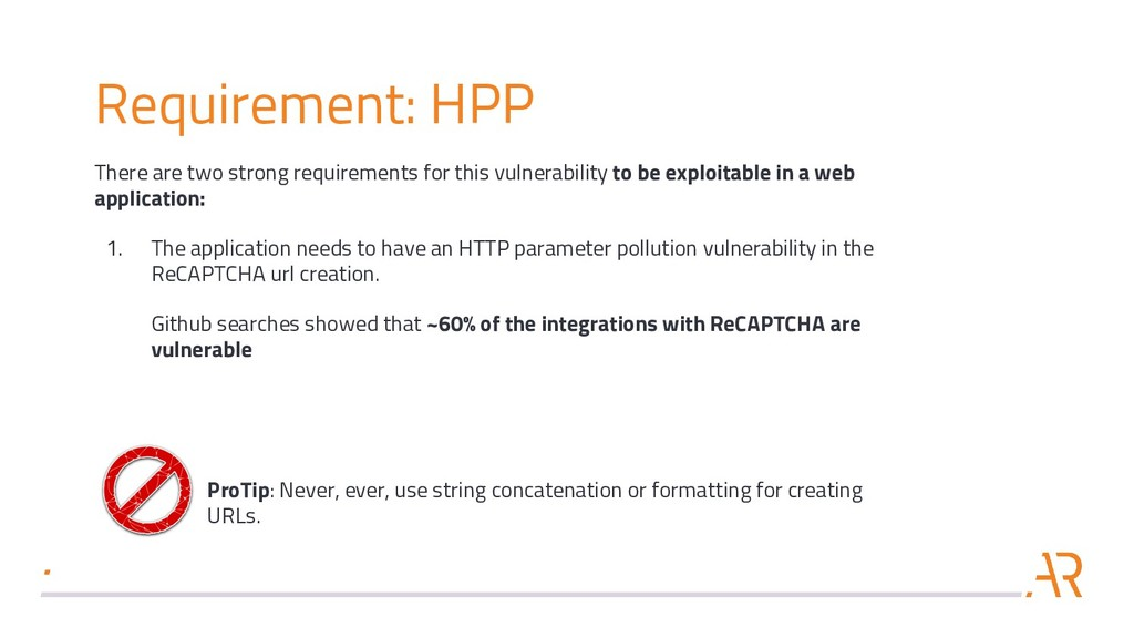 Requirement: HPP There are two strong requireme...