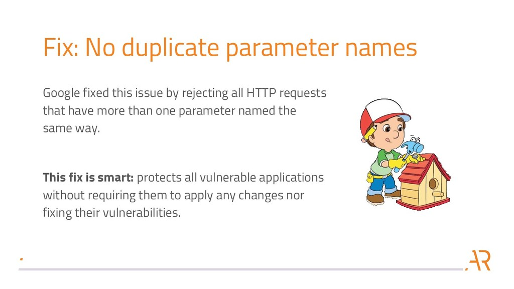 Fix: No duplicate parameter names Google fixed ...