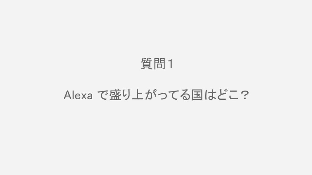 質問1  Alexa で盛り上がってる国はどこ?