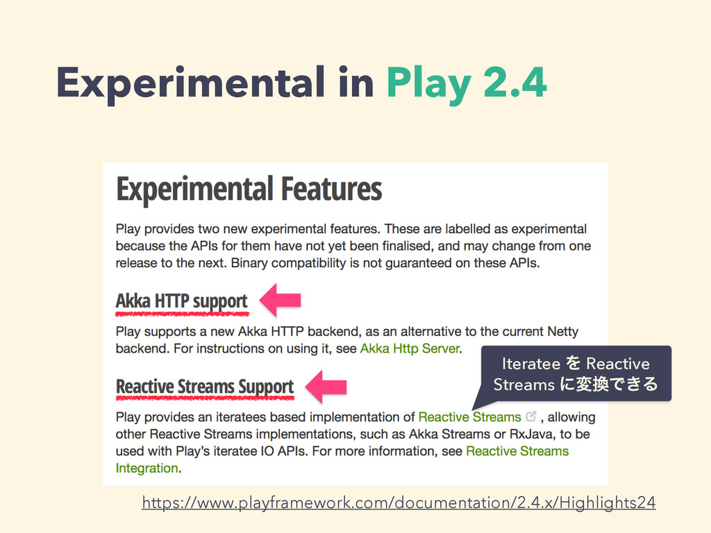 Experimental in Play 2.4 https://www.playframew...