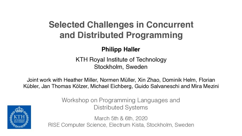 Selected Challenges in Concurrent and Distribut...