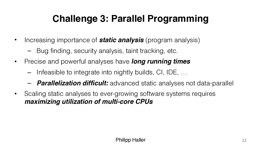 Philipp Haller Challenge 3: Parallel Programmin...