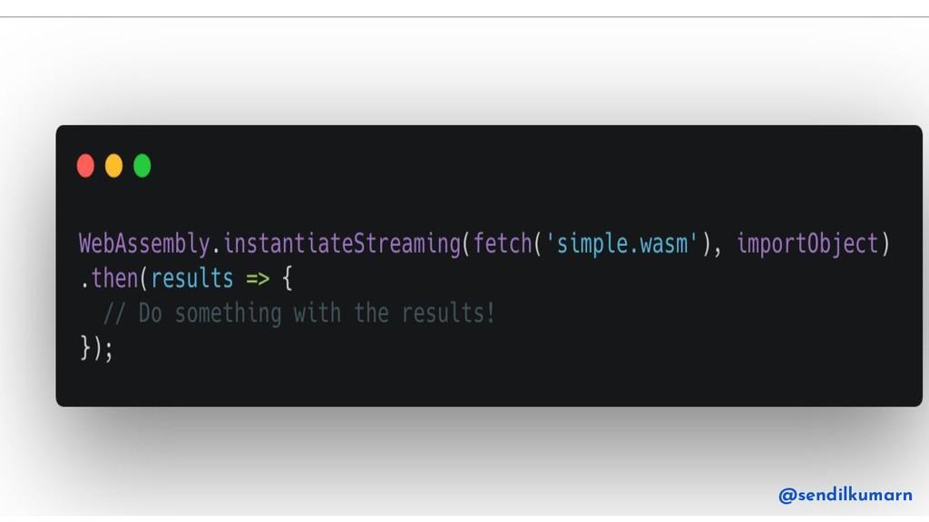JavaScript @sendilkumarn