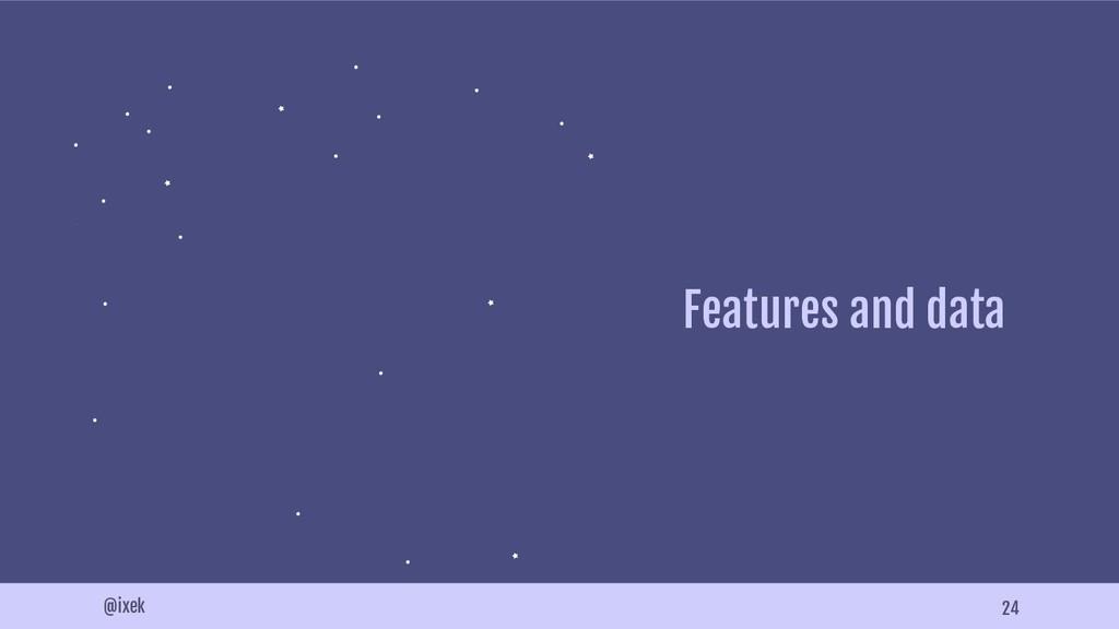 24 @ixek Features and data