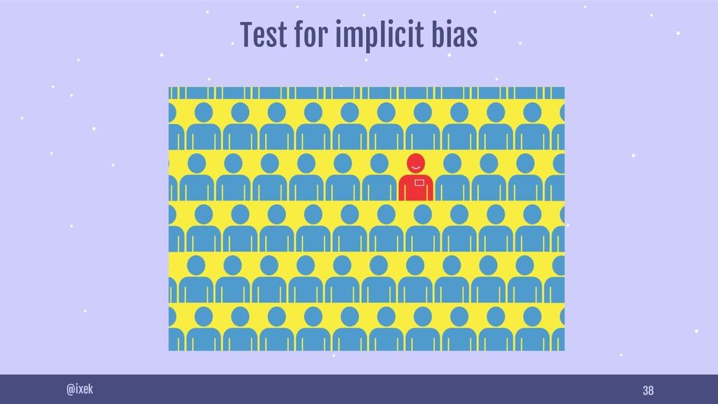 38 @ixek Test for implicit bias