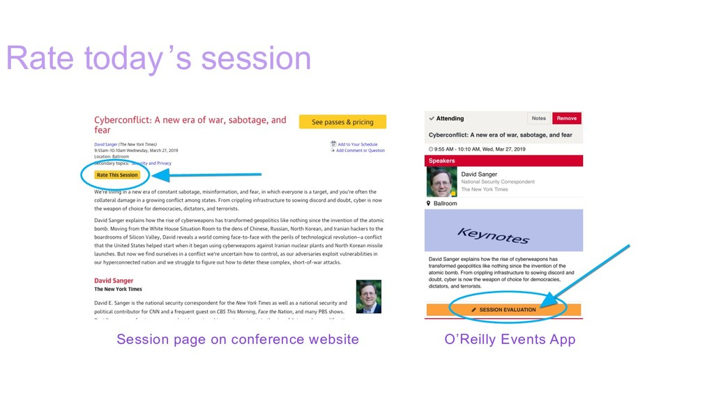 Rate today's session Session page on conference...