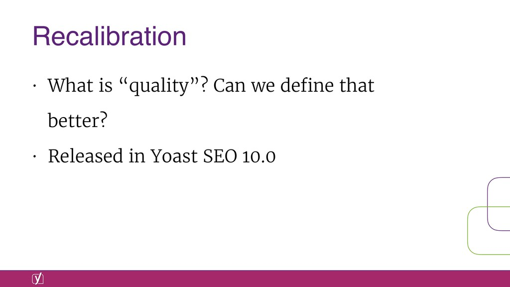 """• What is """"quality""""? Can we define that better? ..."""