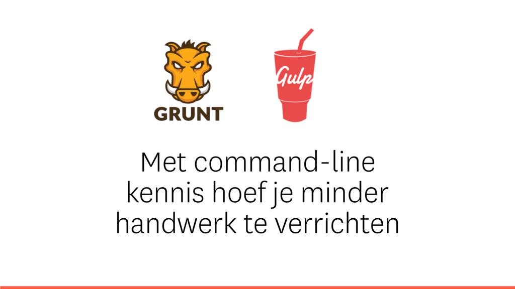 Met command-line kennis hoef je minder handwerk...
