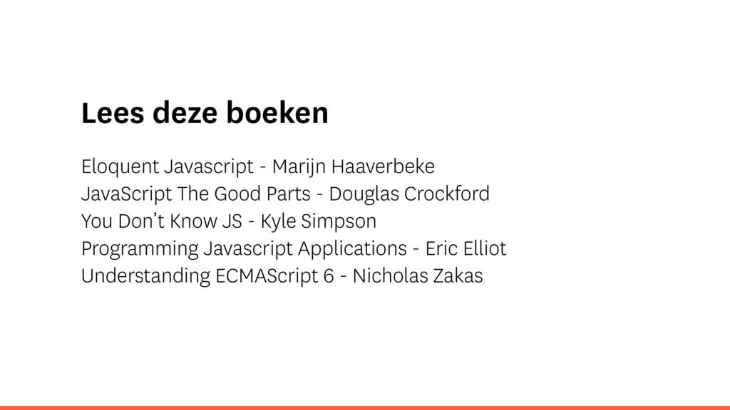 Lees deze boeken Eloquent Javascript - Marijn H...