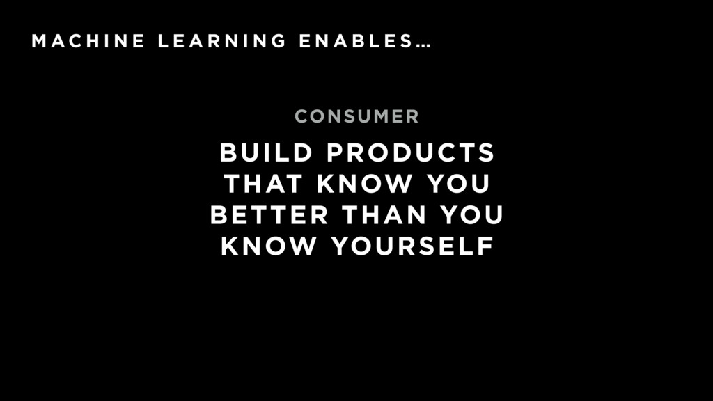 BUILD PRODUCTS THAT KNOW YOU BETTER THAN YOU KN...