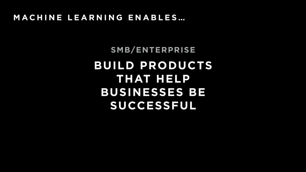 BUILD PRODUCTS THAT HELP BUSINESSES BE SUCCESSF...