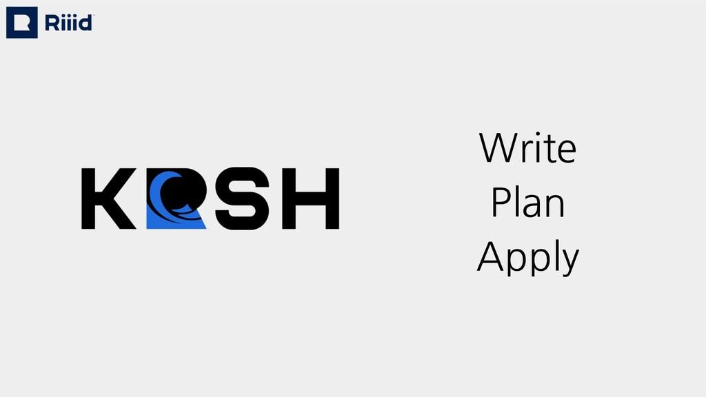 Write Plan Apply